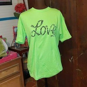 LOVE John3:16 Lime & Black TShirt